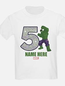 Personalized Hulk Age 5 T-Shirt