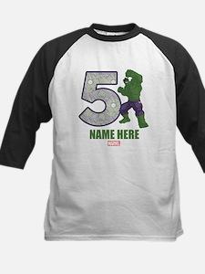Personalized Hulk Age 5 Kids Baseball Jersey