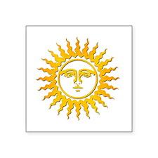 "Cute Sun moon and stars christmas Square Sticker 3"" x 3"""