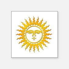"""Unique Sun and moon Square Sticker 3"""" x 3"""""""