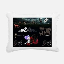 Dark Wolves Rectangular Canvas Pillow