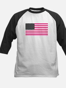 pink american flag Baseball Jersey