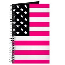 pink american flag Journal