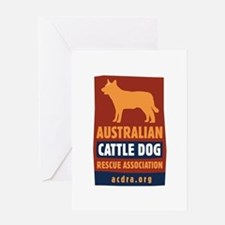 Cool Cattle dog rescue Greeting Card