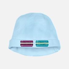 rainbow macarons baby hat