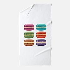 rainbow macarons Beach Towel
