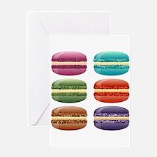 rainbow macarons Greeting Cards