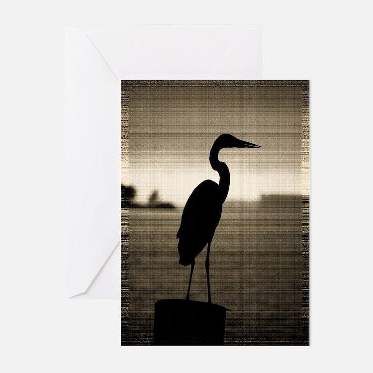 Cute Blue heron Greeting Cards (Pk of 10)