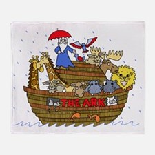 Funny Ark Throw Blanket