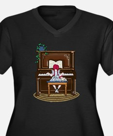Little Girl Practicing Piano Plus Size T-Shirt