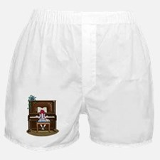 Little Girl Practicing Piano Boxer Shorts