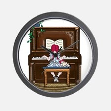Little Girl Practicing Piano Wall Clock