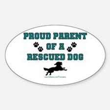 Rescue Dog Parent Oval Decal