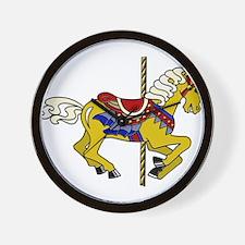 Palomino Carousel Horse Wall Clock