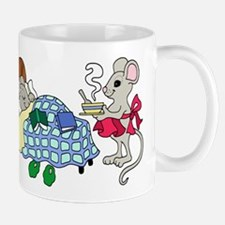 Mouse Mom Caring for Sick Child Mugs