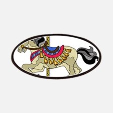 Spotted Pinto Carousel Horse Patch