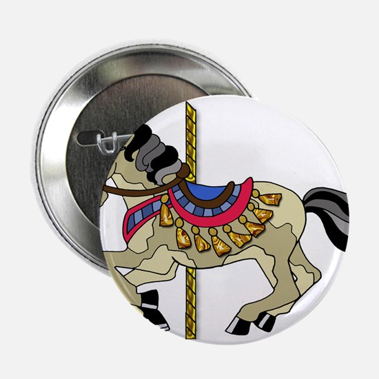 """Spotted Pinto Carousel Hors 2.25"""" Button (10 pack)"""