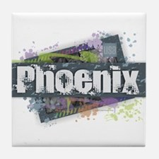 Phoenix Design Tile Coaster