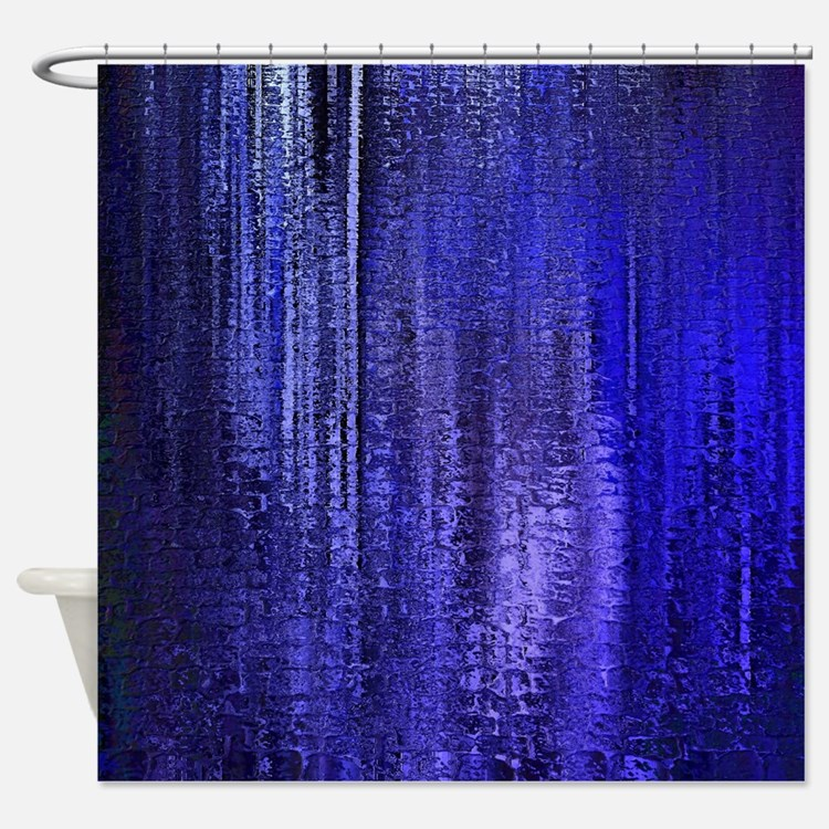 Dark Blue Shower Curtains