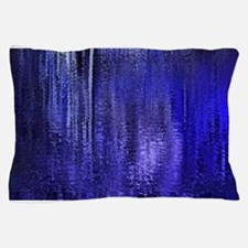 Abstract Blue Rain Pillow Case