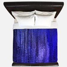 Abstract Blue Rain King Duvet