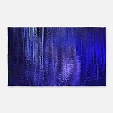 Abstract Blue Rain 3'x5' Area Rug