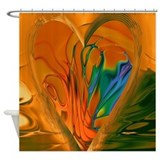 Abstract heart Shower Curtains