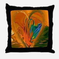 Abstract Heart Throw Pillow