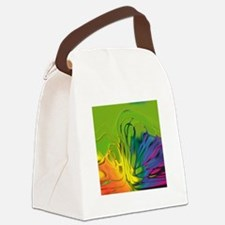 Abstract Wave Canvas Lunch Bag
