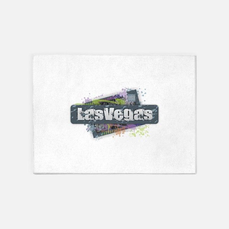 Las Vegas Design 5'x7'Area Rug