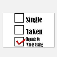 Single ready to mingle Postcards (Package of 8)