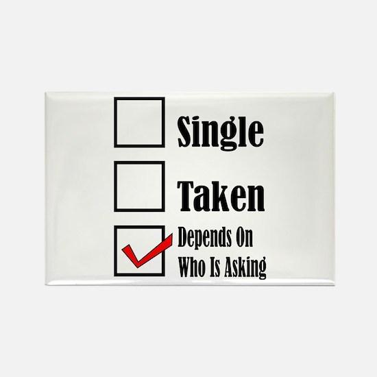 Single ready to mingle Magnets