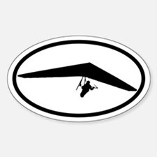 Hang Glider Oval Bumper Stickers
