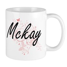 Mckay surname artistic design with Butterflie Mugs