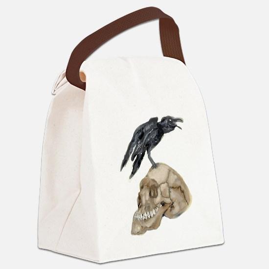 Unique Raven Canvas Lunch Bag