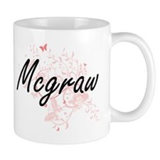 Mcgraw surname artistic design with Butterfli Mugs