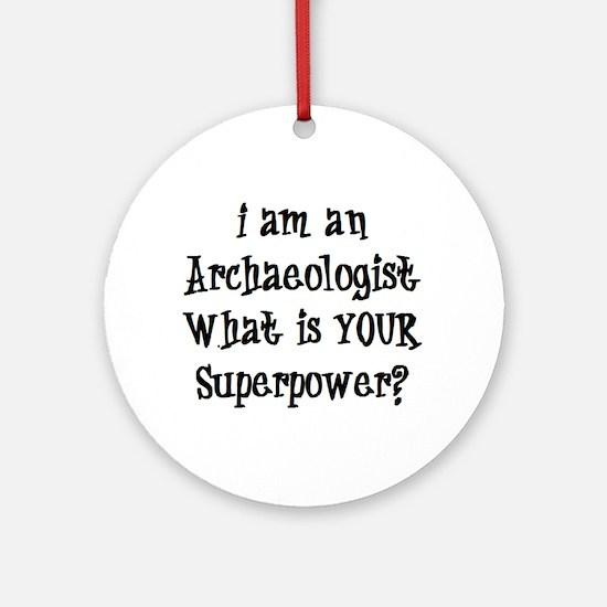 archaeologist Round Ornament