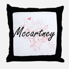 Mccartney surname artistic design wit Throw Pillow