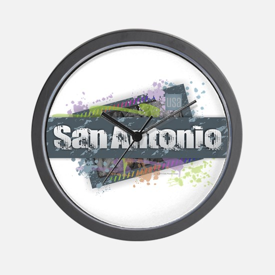 San Antonio Design Wall Clock