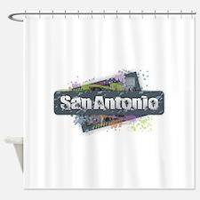 San Antonio Design Shower Curtain