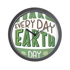 Every Day Earth Day Wall Clock