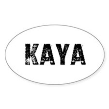 Kaya Oval Decal
