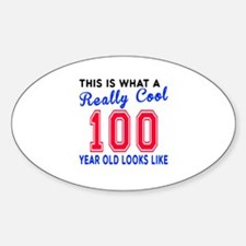 Really Cool 100 Birthday Designs Decal