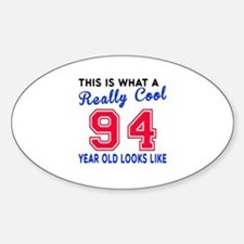 Really Cool 94 Birthday Designs Decal