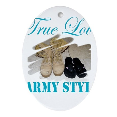True Love, Army Style Oval Ornament