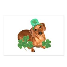 St Patty's Day Dachshund Postcards (Package of 8)