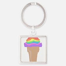 ice cream rainbow scoops Keychains