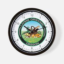 Living Organic Oregon Wall Clock
