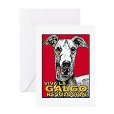 Cute Galgo Greeting Card