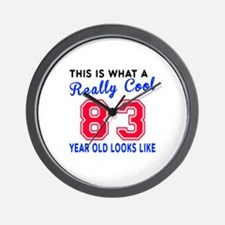 Really Cool 83 Birthday Designs Wall Clock